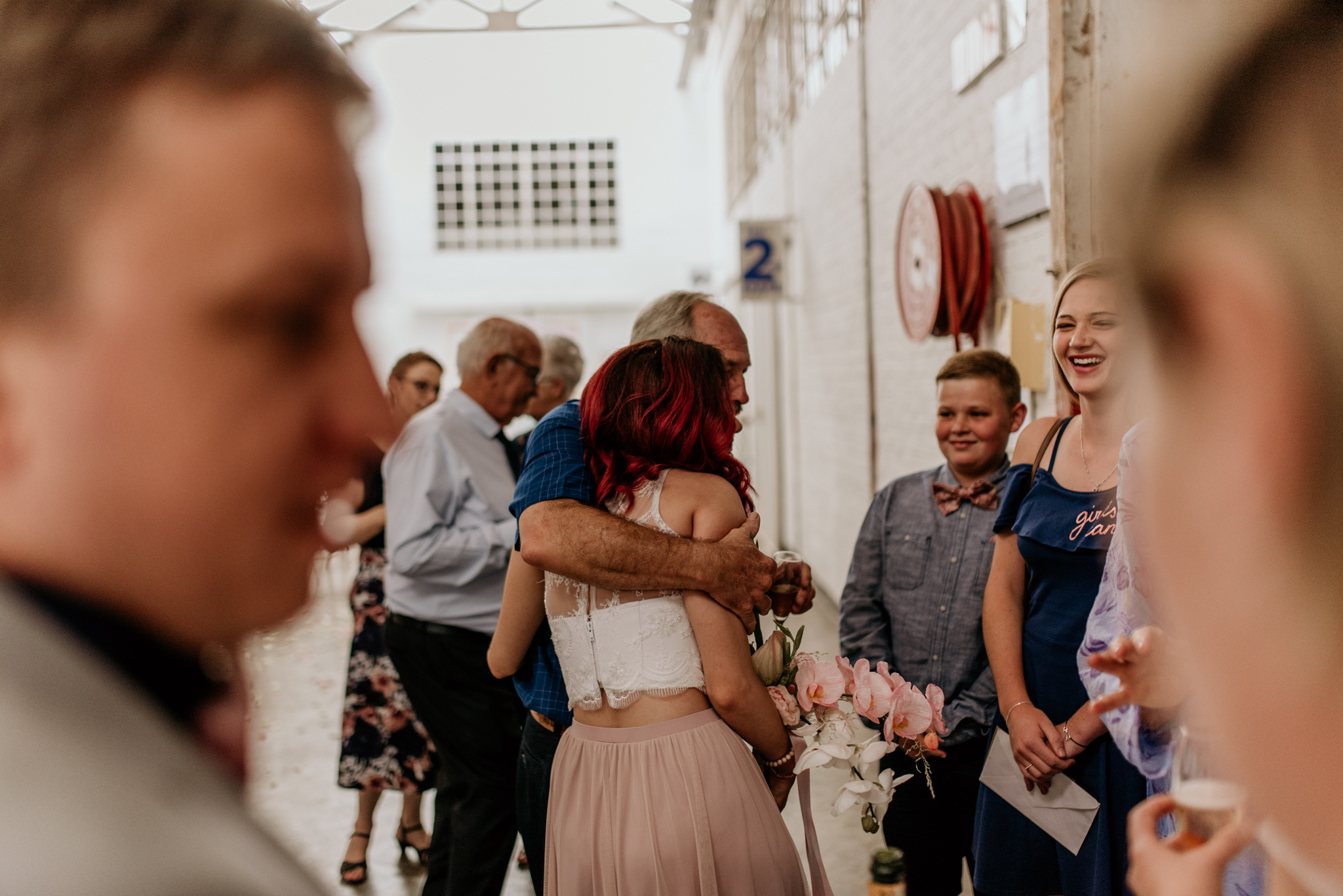 Wedding guests congratulating the bride at a johannesburg wedding